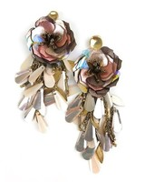 Allie Beads Sequin Flower Drop Earring
