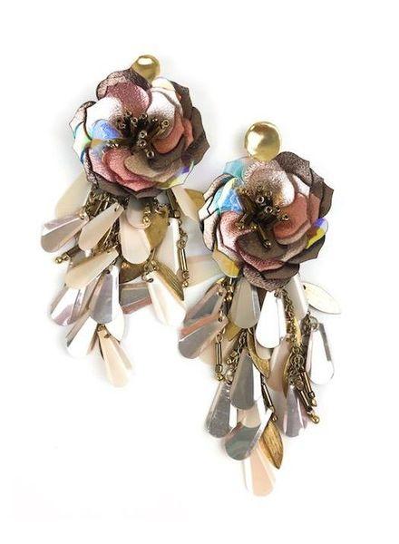 Allie Beads Sequin Flower Drop Earring