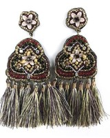 "Allie Beads Fiesta"" Beaded Statement Earring ERF 109"