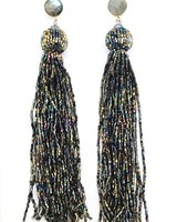 "Allie Beads ""Sparkle"" Beaded Tassel Earrings ERF115"
