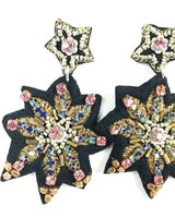 "Allie Beads ""Fabric Stars"" Earring ERF 106"