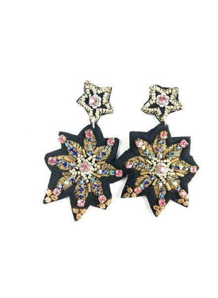 """Allie Beads """"Fabric Stars"""" Earring ERF 106"""