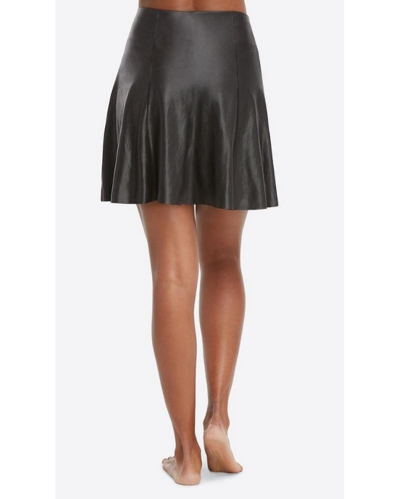 Spanx Faux Leather Skater Skirt