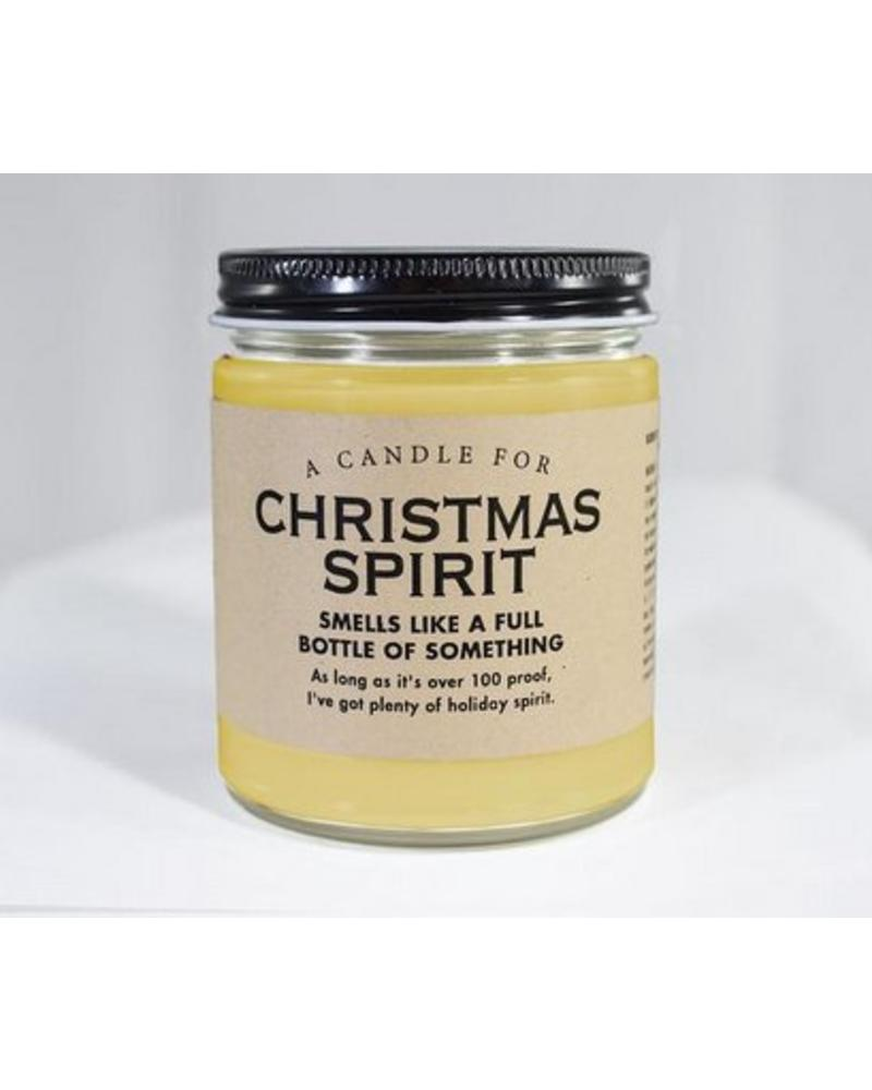 Whiskey River Soap Co Christmas Spirit Candle