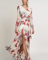 Hutch Giselle Long Sleeve Wrap Maxi Dress