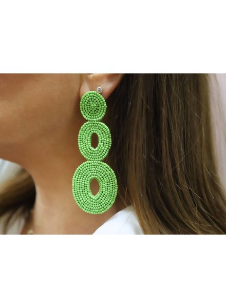 Allie Beads Tiered Circle Earring