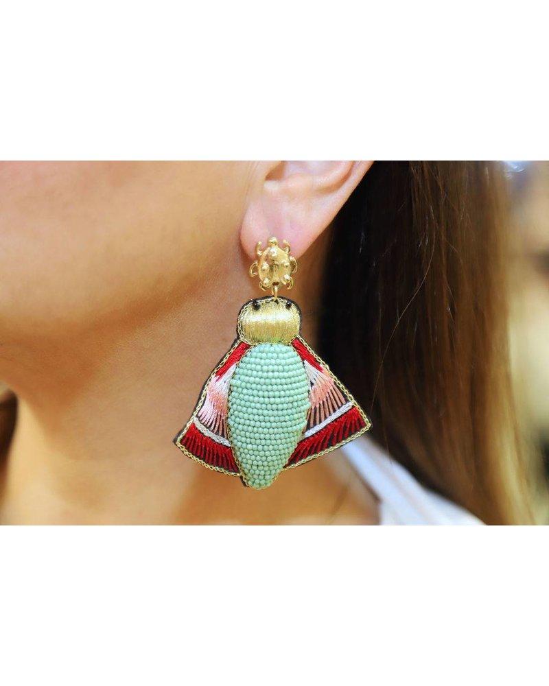 Allie Beads Beetle Earring