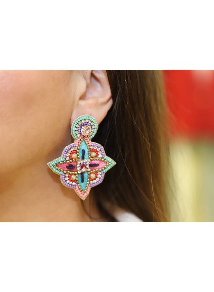 Allie Beads Pastel Multi Color Earring