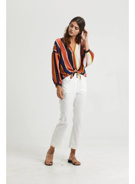 Marie Oliver Hendrix Tie Front Blouse