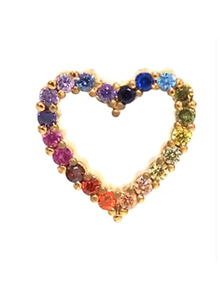 Tai Rainbow Heart Stud