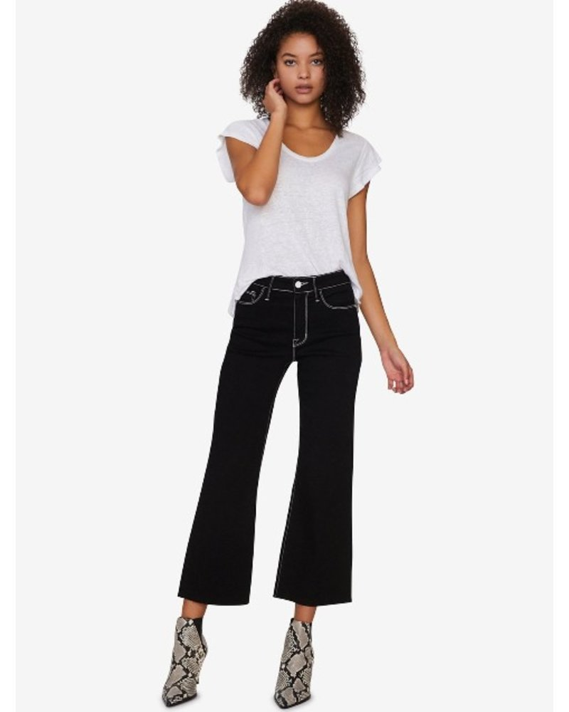 Sanctuary Non-Conformist Contrast Stitch Wide Leg Cropped Jean