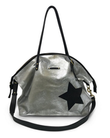 Kempton & Co Metallic Canvas Black Star Crossbody