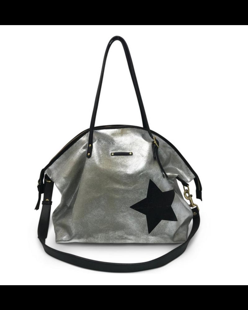 Kempton & Co Metallic Canvas Black Star Crossbody