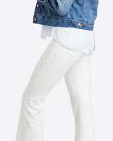 Spanx Crop Flare White Denim