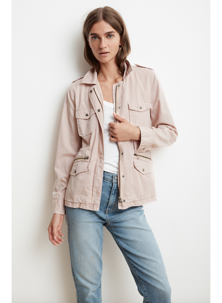 Velvet by Graham and Spencer Ruby Army Jacket