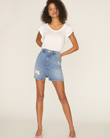 Sanctuary Leo 5-Pocket Mini Skirt