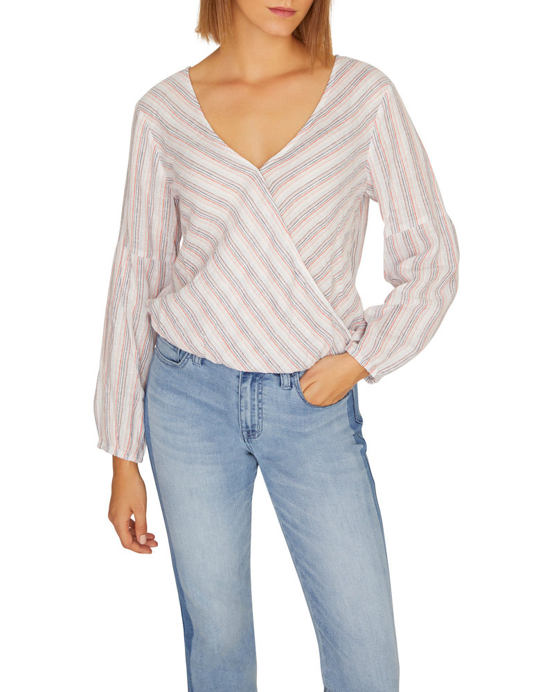 Sanctuary Sand Dune Wrap Top