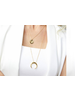 Gorjana Cayne Crescent Necklace