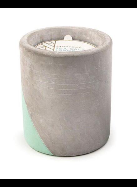 Paddywax Concrete Pot 12 oz Candle Sea Salt + Sage