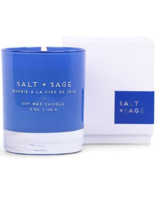 Paddywax Cobalt Blue Glass Salt + Sage Candle 7oz