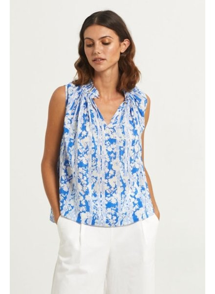Marie Oliver Arden Sleevless Top Blue Floral