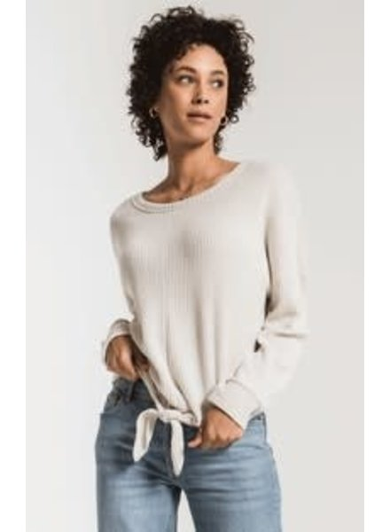 Z Supply The Tie Front Waffle Thermal Top