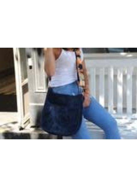 Ahdorned Velvet Neoprene Messenger Bag