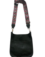 Ahdorned Vegan Leather Messanger with Guitar Strap