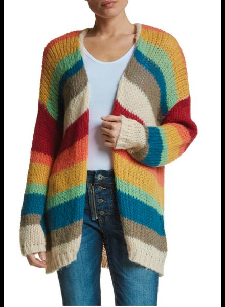 Elan Striped Sweater Cardigan