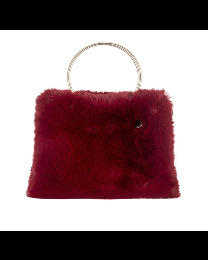 Alessia Massimo Alessia Shape Fur Bag