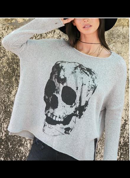 Wooden Ships Skull Pullover Sweater