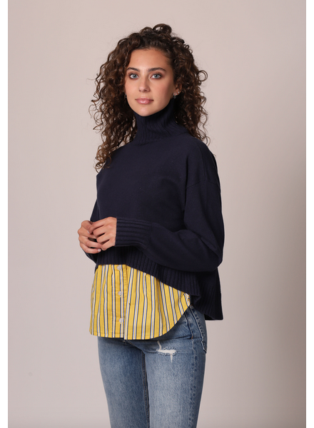 Central Park West Layered Turtleneck Sweater