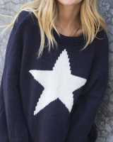 Wooden Ships Star Slouchy Cre Chunky