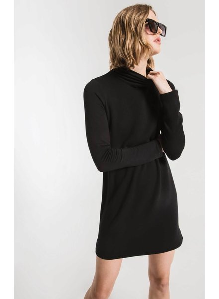 Z Supply The Premium Fleece Turtle Neck Dress