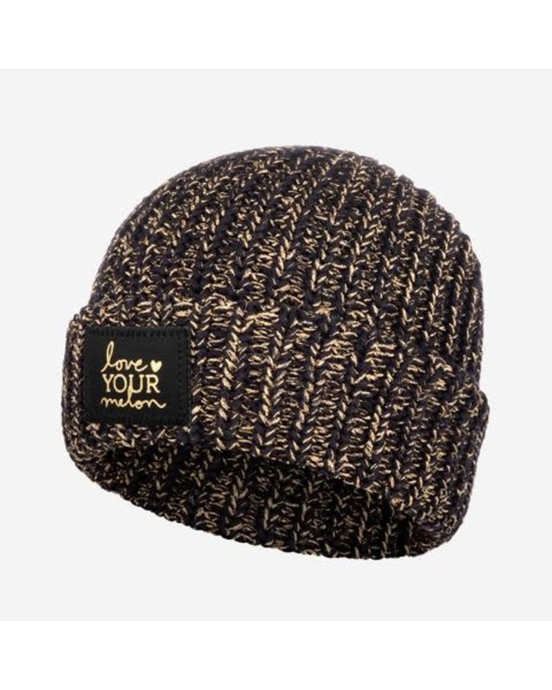 Love Your Melon Love Your Melon Black/Gold Cuffed