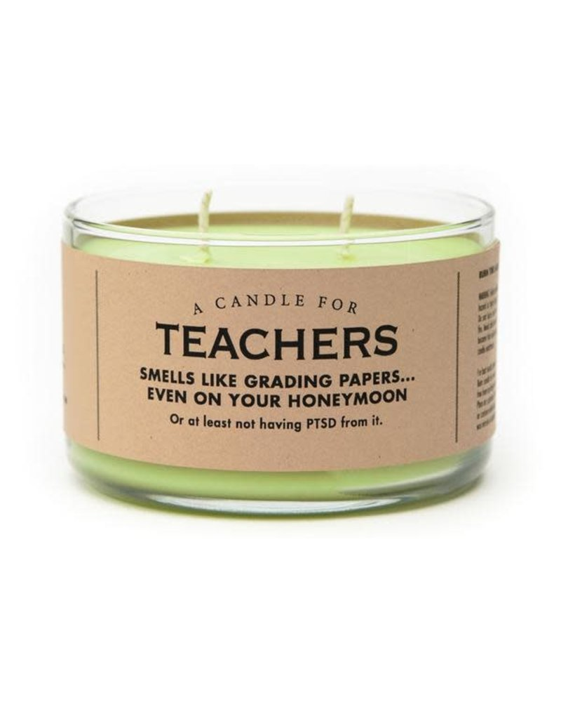 Whiskey River Soap Co Teachers Candle