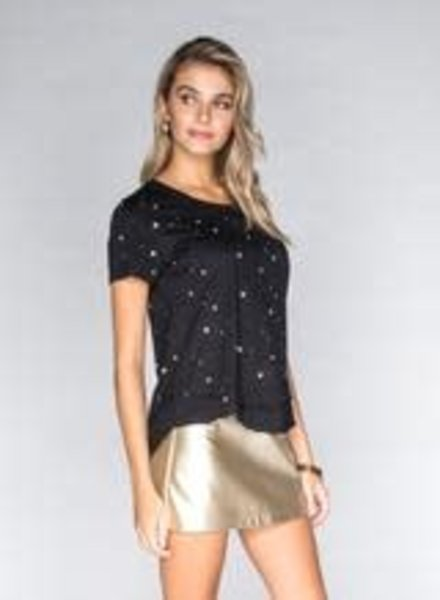 CHRLDR All Over Stars Mock Layer T-Shirt