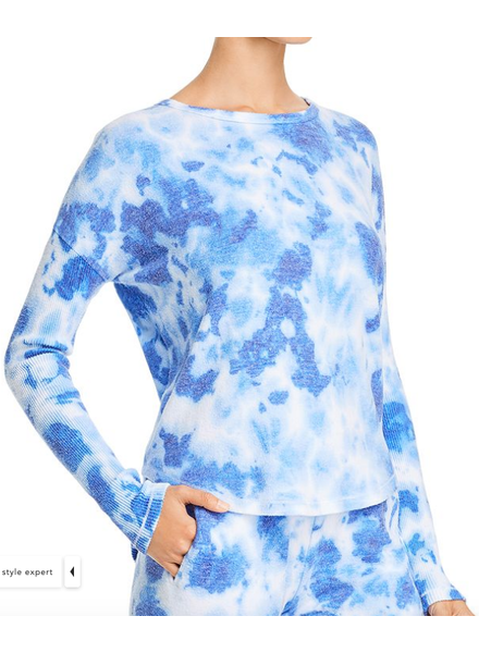 Theo Spence Tie Dye Yummy Ribbed Sleeve Top
