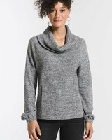 Z Supply The Waffle Thermal Cowl Neck Top