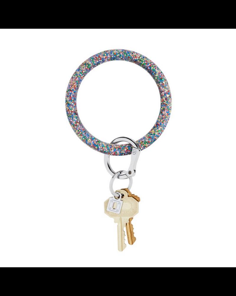 O Venture BIg O Key Ring- Silicone Confetti