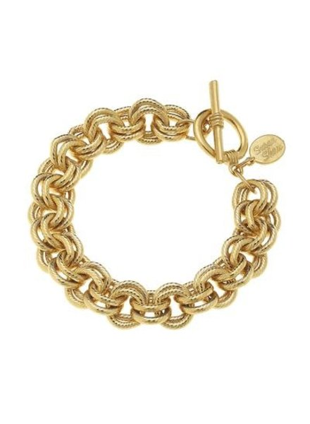 Susan Shaw Double Linked Chain Bracelet 2495G