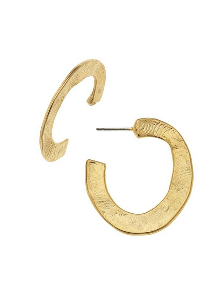 Susan Shaw Small Gold Hoop Earrings 1471g