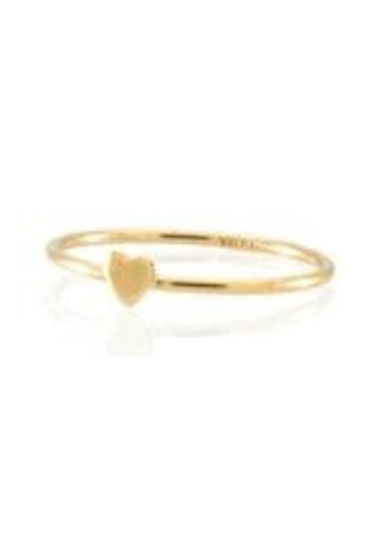 Jūraté Sally - Gold Ring with Small Heart