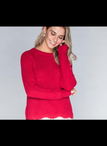 CHRLDR Linda Shredded Sweater
