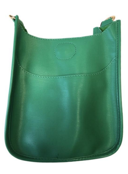 Ahdorned Mix and Match Vegan Leather Mini Messenger Bag (No Strap)