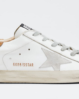 Golden Goose Superstar White Leather Light Brown Lizard