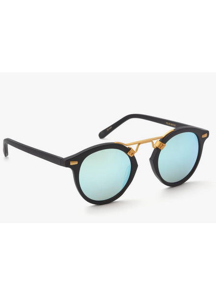 Krewe St Louis Matte Blk + Shadow Mirred Polarized
