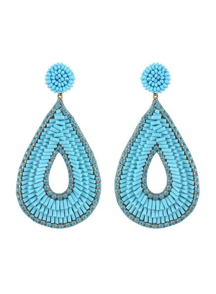 Deepa Gurnani Abia Earrings - Turquoise