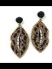 Allie Beads Leopard Lip Earrings