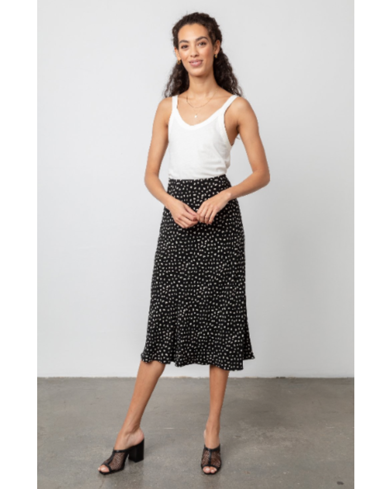 Rails Anya Black Ivory Spots Skirt